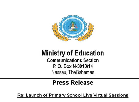 Ministry of Education - Launch of Primary School Live Virtual Sessions