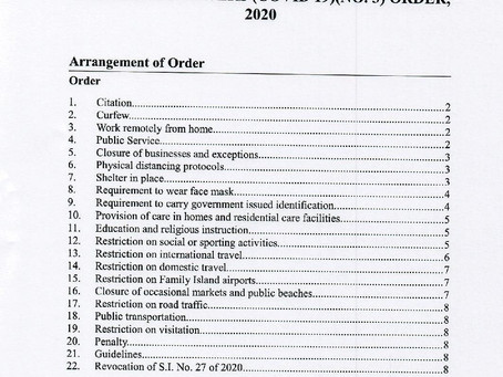 Emergency Powers (Covid 19) (No.3) Order, 2020