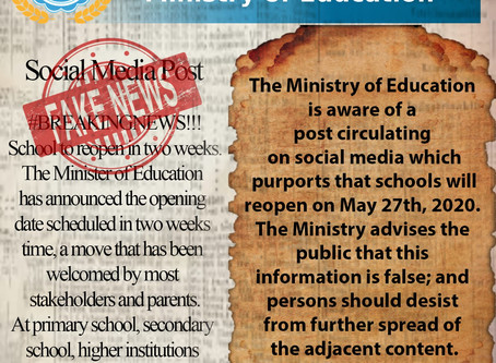 Announcement from the Ministry of Education - Social Media Post