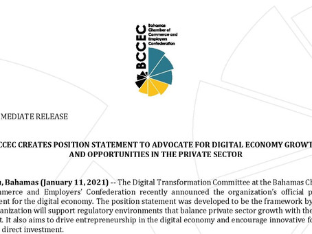 PRESS RELEASE: BCCEC Creates Position Statement | Advocate for Digital Economy Growth