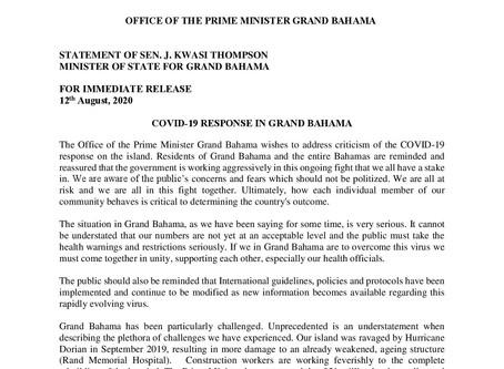 Covid-19 Response in Grand Bahama