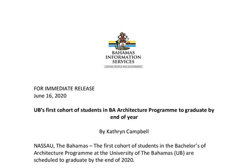 UB's first cohort of students in BA Architecture Programme to graduate by end of year
