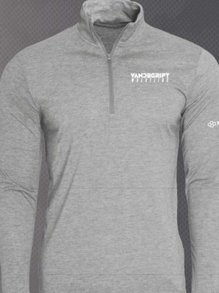 Gray Super Soft Quarter Zip in Gray