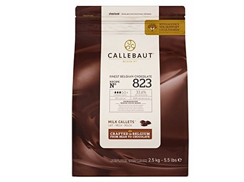 Chocolate Callebaut 823 milk callets 5.5 lb