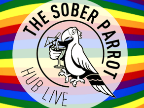 Socialising at The Sober Parrot
