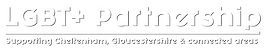 LGBT+ Partnership Logo White