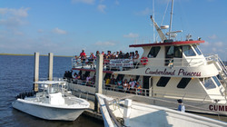 CWK on ferry to Cumberland island