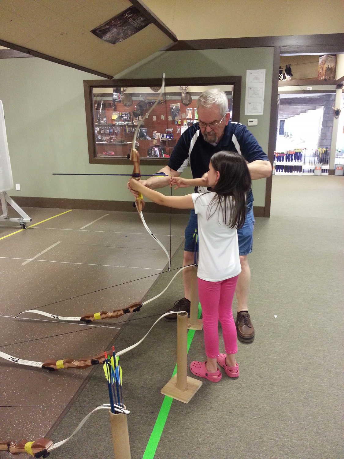 CWK girl indoor Archery Lessons