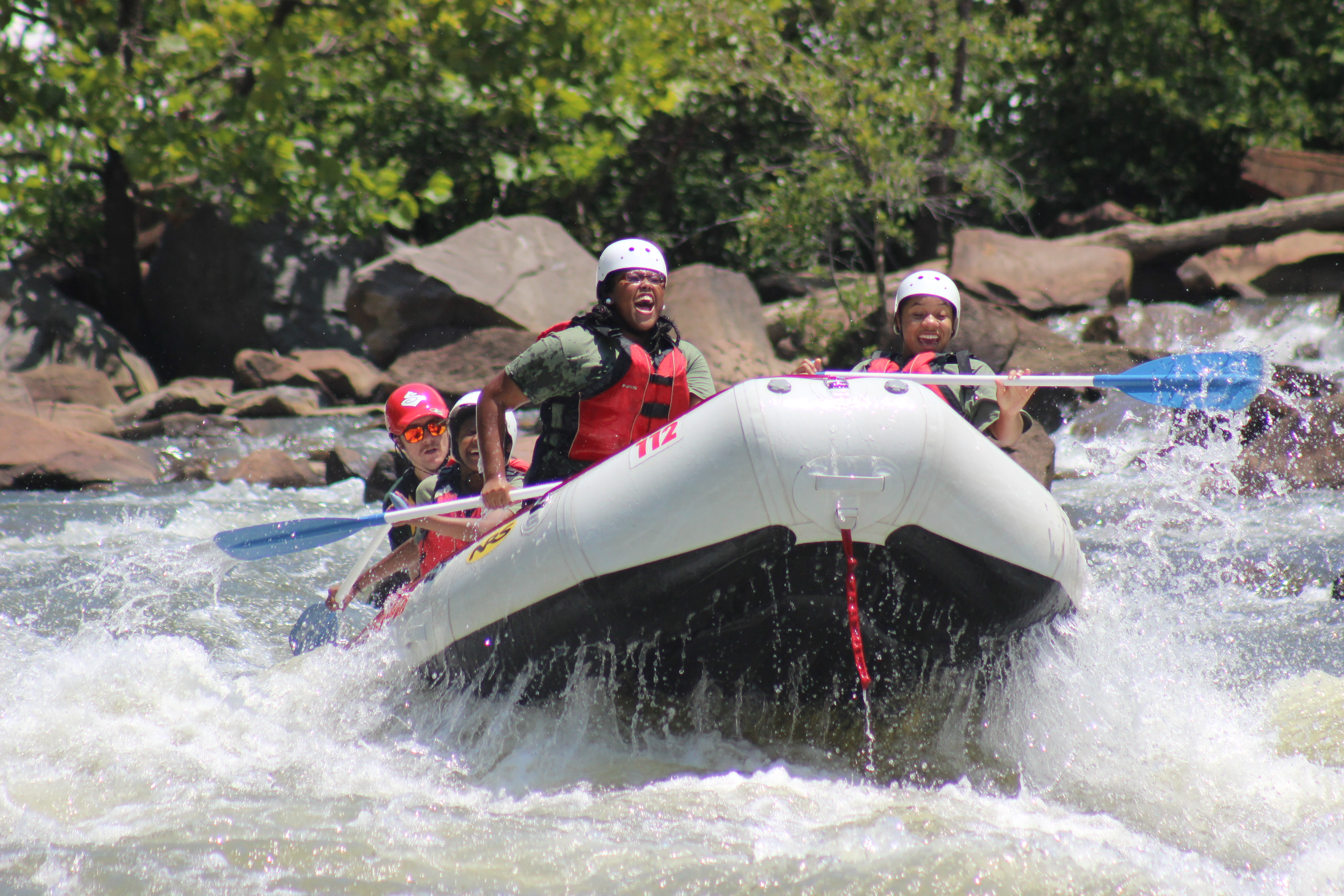 cwk campers on white water rafting