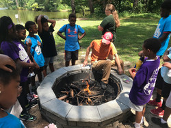Wilderness survival class at CWK