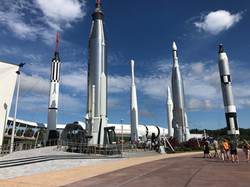 CWK views NASA rockets