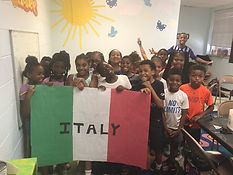 cwk campers celebrating italian day