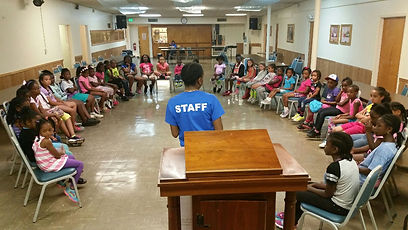 girls camp empowerment session