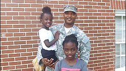 military family on Big Day at cwk