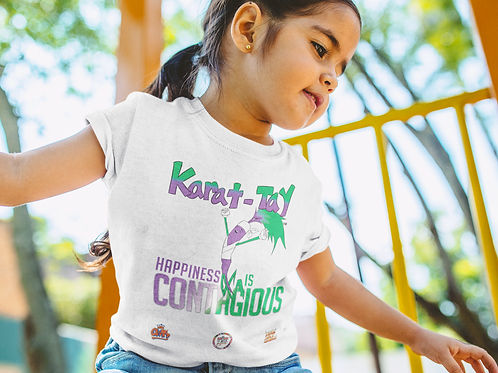 """Karat-Tay Tee """"HAPPINESS IS CONTAGIOUS"""""""