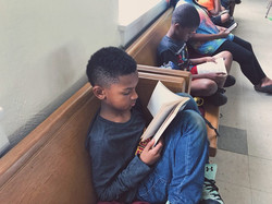 kid loves summer reading time at CWK