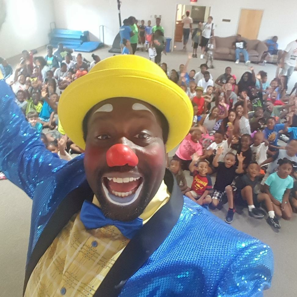 jman the clown performs at CWK