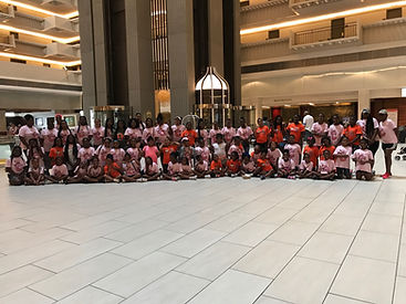 girls camp sleep over at the Marriott Marquis