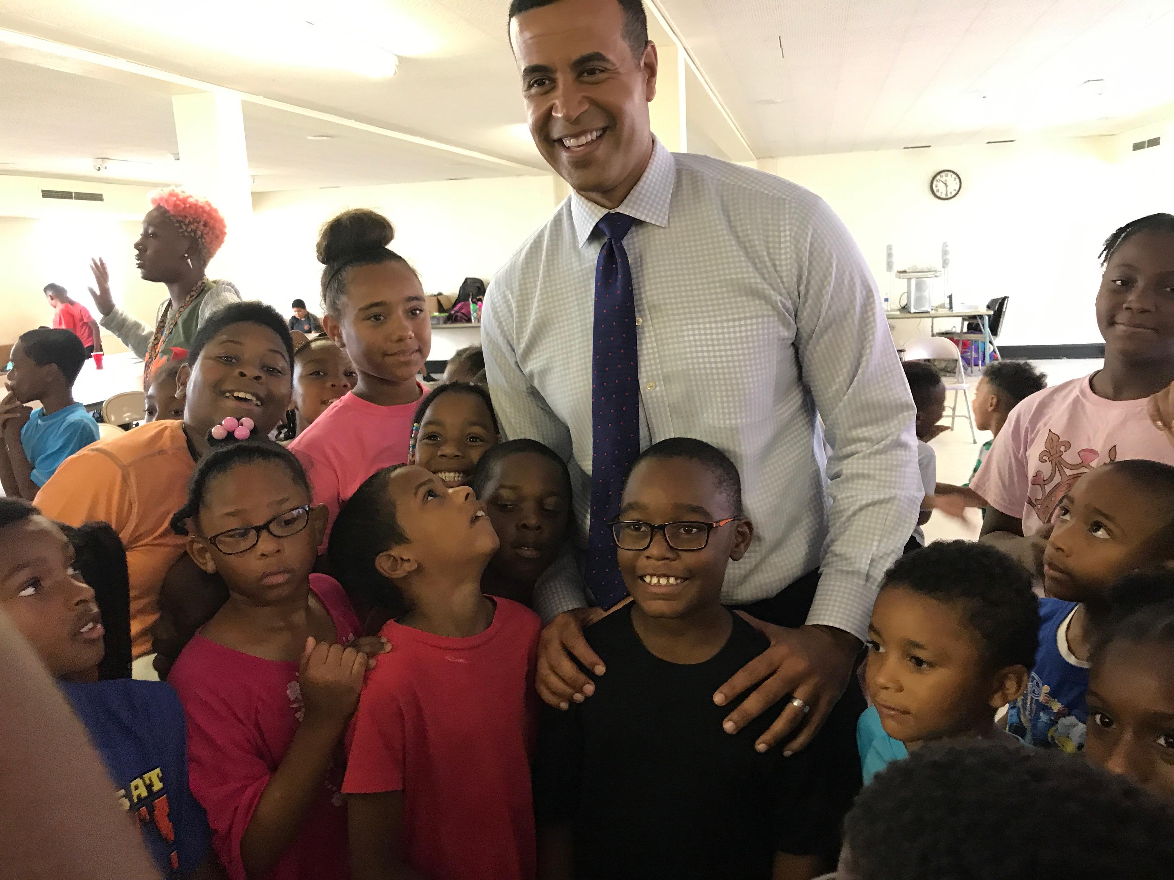 Fred Blankenship visits CWK kids