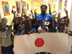 campers celebrate Japan
