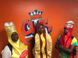 campers dress up as hot dogs