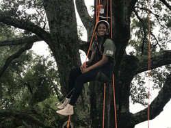 Girl doing tree climbing at CWK