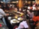 girl cwk campers eating at benihana