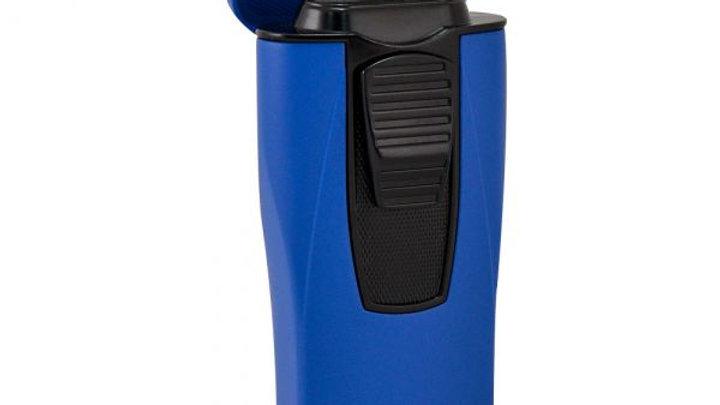 COLIBRI MONACO TRIPLE-FLAME LIGHTER METALLIC BLUE