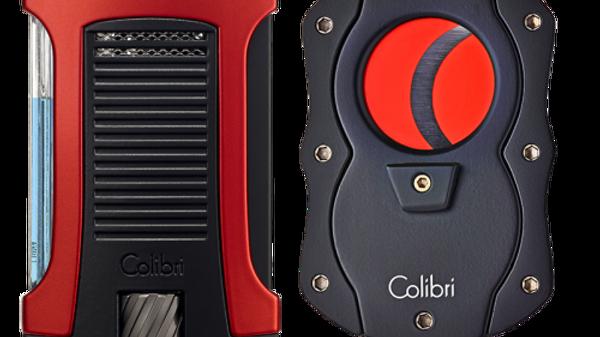 COLIBRI DAYTONA + CUTTER RED COLOR BLADE SET RED