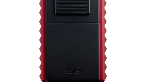 COLIBRI QUASAR ASTORIA TRIPLE-JET LIGHTER WITH/ CUTTER BLACK/RED