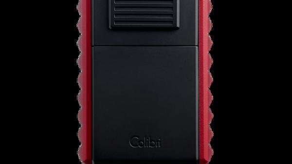 COLIBRI QUASAR ASTORIA TRIPLE-JET LIGHTER WITH/ CUTTER BLACK/RED