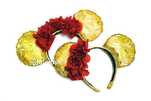 Belle Rose Mouse Ears Headband
