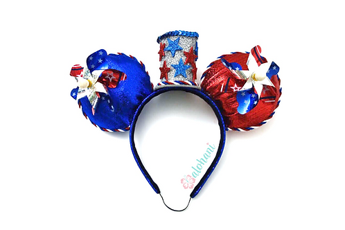 4th of July Pinwheel Mouse Ears