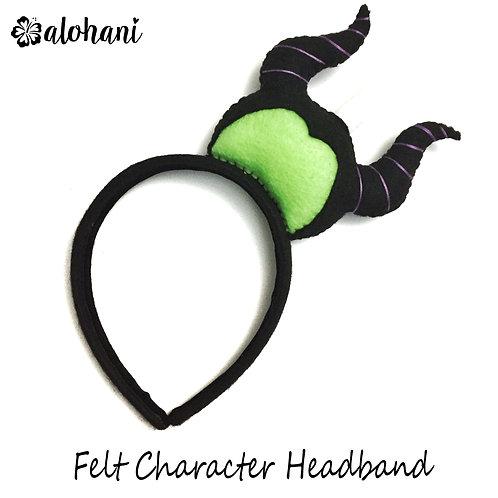 Evil Fairy Felt Character Headband