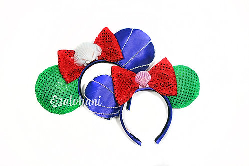 Ariel Inspired Mouse Ears (Mommy and Me Set)