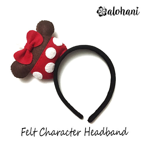 Mouse Candy Apple Felt Character Headband
