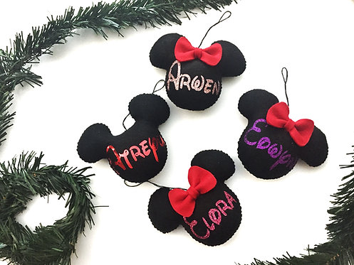 Mouse Ornament Set of 2