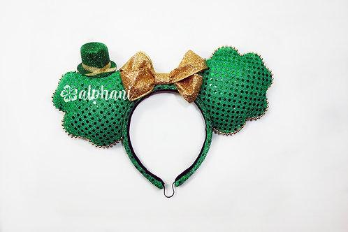 St. Patrick's Day Shamrock Confetti Mouse Ears