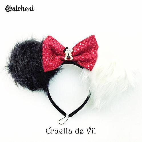 Cruella Fur Mouse Ears