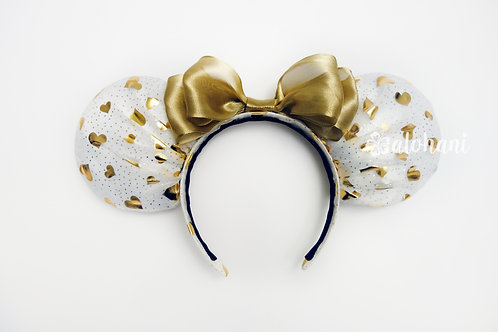 Valentine's Day Gold Heart Mouse Ears