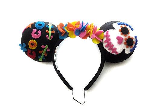 Coco Inspired Día De Los Muertos Mouse Ears