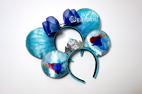 Elsa Inspired Mouse Ears (Mommy and Me Set)