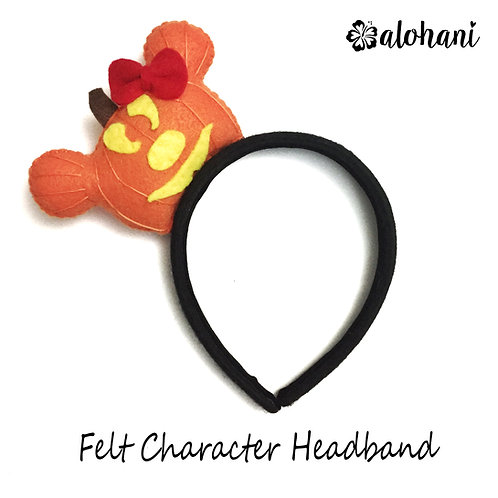 Mouse Pumpkin Felt Character Headband