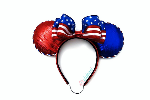 4th of July Patriotic Flag Ears Headband