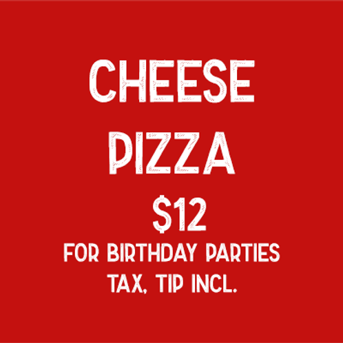 Cheese Pizza (Parties)