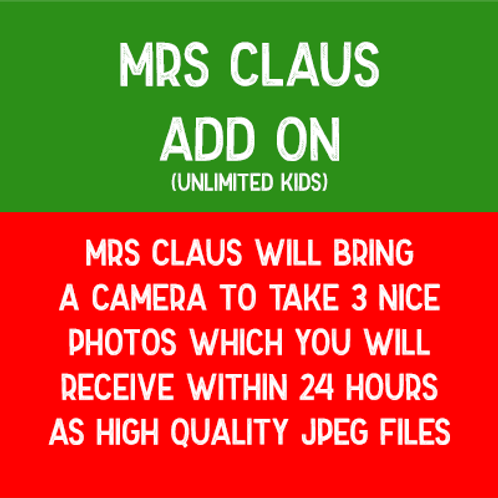 Mrs Claus - Add On (With Photos)