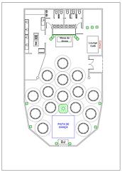 Planta Baixa Sugestão de Organização do Salão
