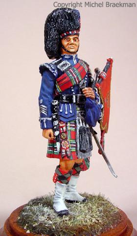 Pipe Major Scots Guards, 80mm. (1979) Certificat débutant, Paris 1999