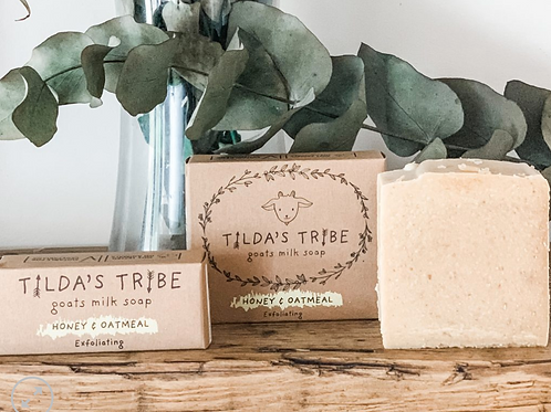 Honey & Oatmeal Natural Goat Milk Soap