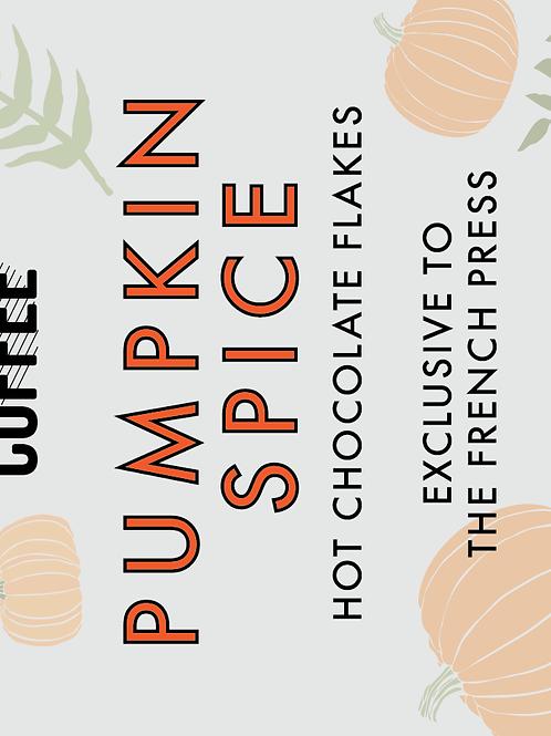 Pumpkin Spice Hot Chocolate Flakes